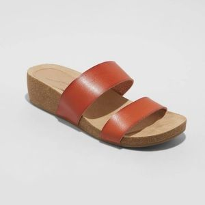 New Kerryl Two Band Wedge Sandals Universal Thread